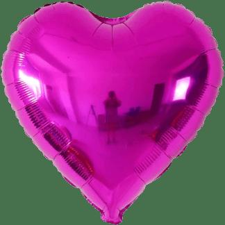 Folienballon Metallic Fuchsia Herz