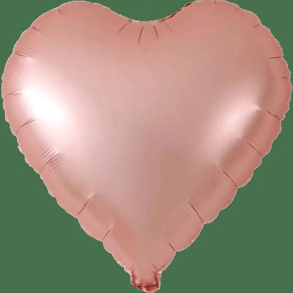 Folienballon Metallic Rosegold Herz