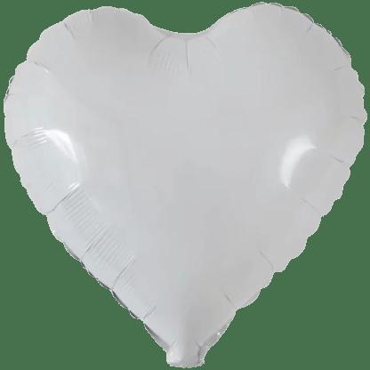 Folienballon Weiss Herz