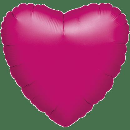 Folienballon Herz Metallic Pink Fuchsia