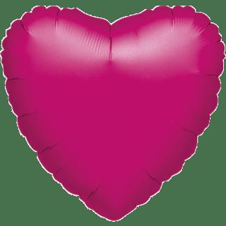 Folienballon Herz Metallic Pink Hochzeit
