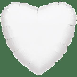 Folienballon Herz Metallic Weiss