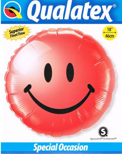 Folienballon als Smilie in Rot
