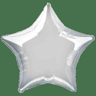 Folienballon Stern 23 cm Silber