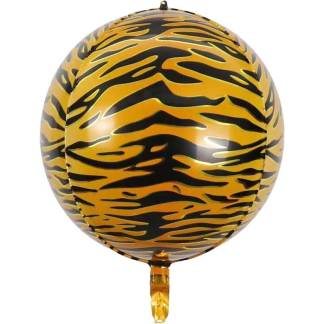 Rundballon Tigermuster
