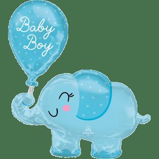 Geburt Geburtstag blauer Elefant