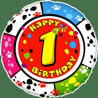 Folienballon Geburtstag Zahl 1 bunt