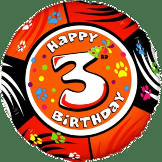 Folienballon Geburtstag Zahl 3 bunt