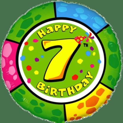 Folienballon Geburtstag Zahl 7 bunt
