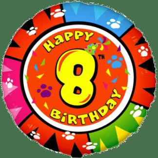 Folienballon Geburtstag Zahl 8 bunt