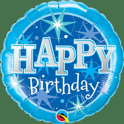 Folienballon Happy Birthday blau