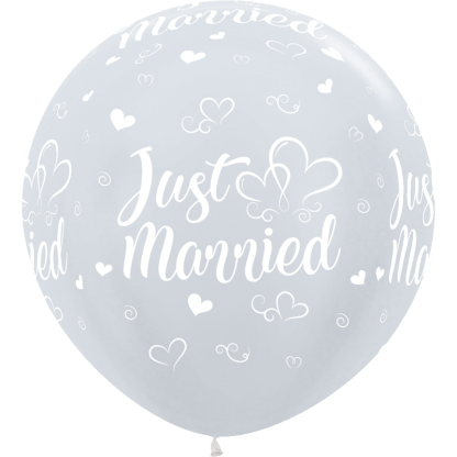 Sempertex Europe Ballons Just Married White 36 Inch