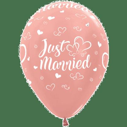 Sempertex Ballon Just Married Rosen Gold