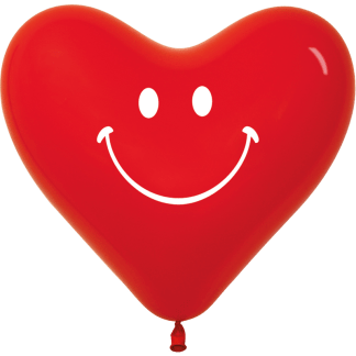 Sempertex Europe Herzballons Smilie
