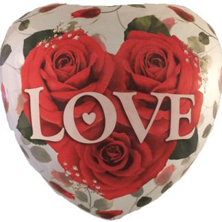 Ballon Liebe Love You Folienballon Bubble Rosen Herz Qualatex