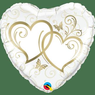 Folienballon Herzen Hochzeit heiraten Gold