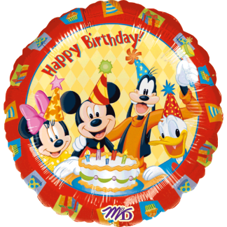 Ballon Disney Geburtstag Mickey Minnie Goofy Donald