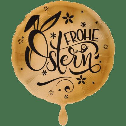 Folienballon Frohe Ostern Gold