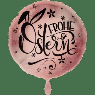 Folienballon Rose Gold Frohe Ostern