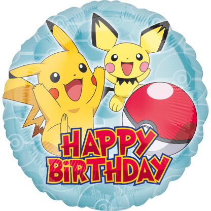 Pokemon Pikachu Happy Birthday Folienballon