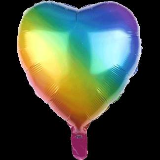 Folienballon Regenbogen Herz LGBT Pride