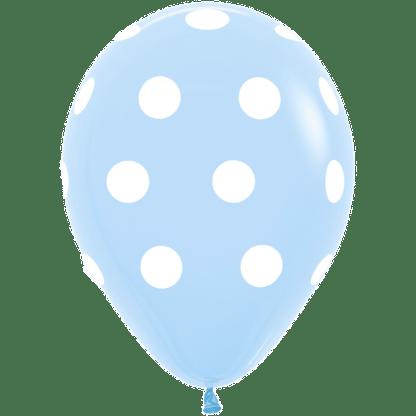 Polka Dots Ballons Pastel Blue