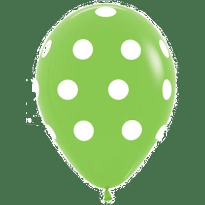 Polka Dots Ballons Lime Green
