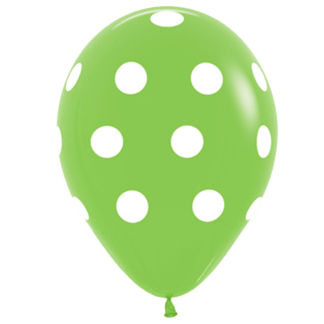 Polka Dots Ballons Lime Green