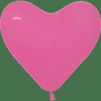 Sempertex Herzballons 30 cm Fuchsia