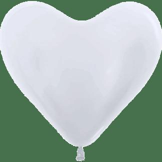 Sempertex Herzballons 35 cm Pearl Pearl