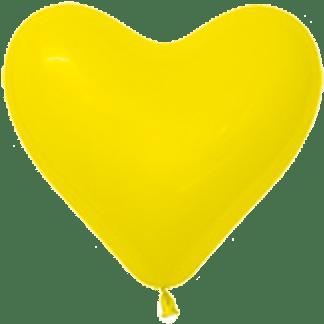 Sempertex Herzballons 15 cm Gelb