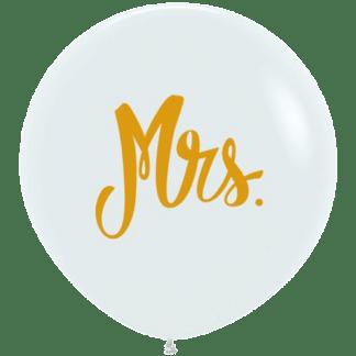 Sempertex Ballon 60 cm Mrs. Weiss / Gold