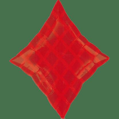 Folienballon Kartensymbol Karo Pokerkarte