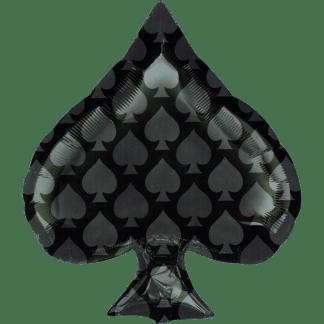 Folienballon Kartensymbol Schippe Pokerkarte