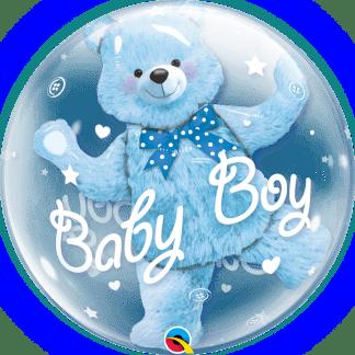 Baby Boy Blau Heliumballon Geburt und Taufe