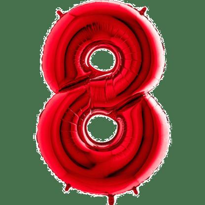 Folienballon Zahl 8 Rot