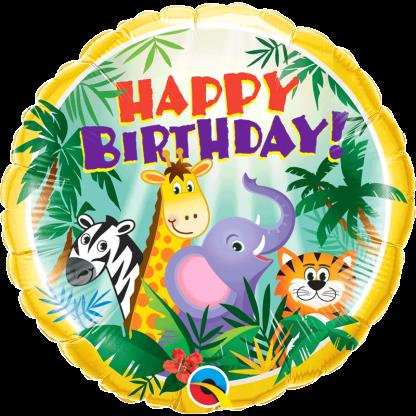 Happy Birthday mit Tiere aus dem Dschungel