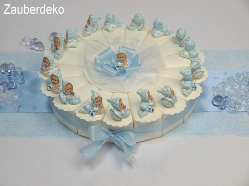 17 Gastgeschenke Torte Hellblau Blau Baby Taufe Junge