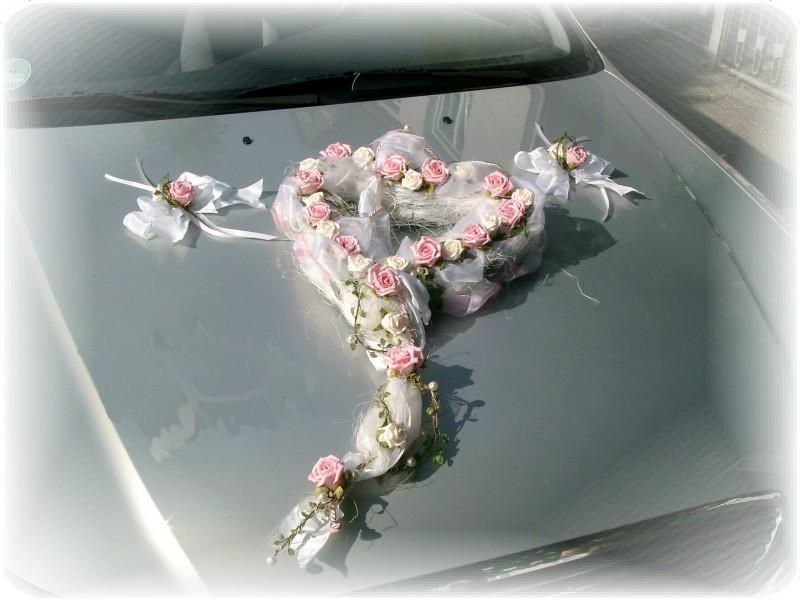 3tlg Autoschmuck Hochzeit Autodeko Tischdeko Deko