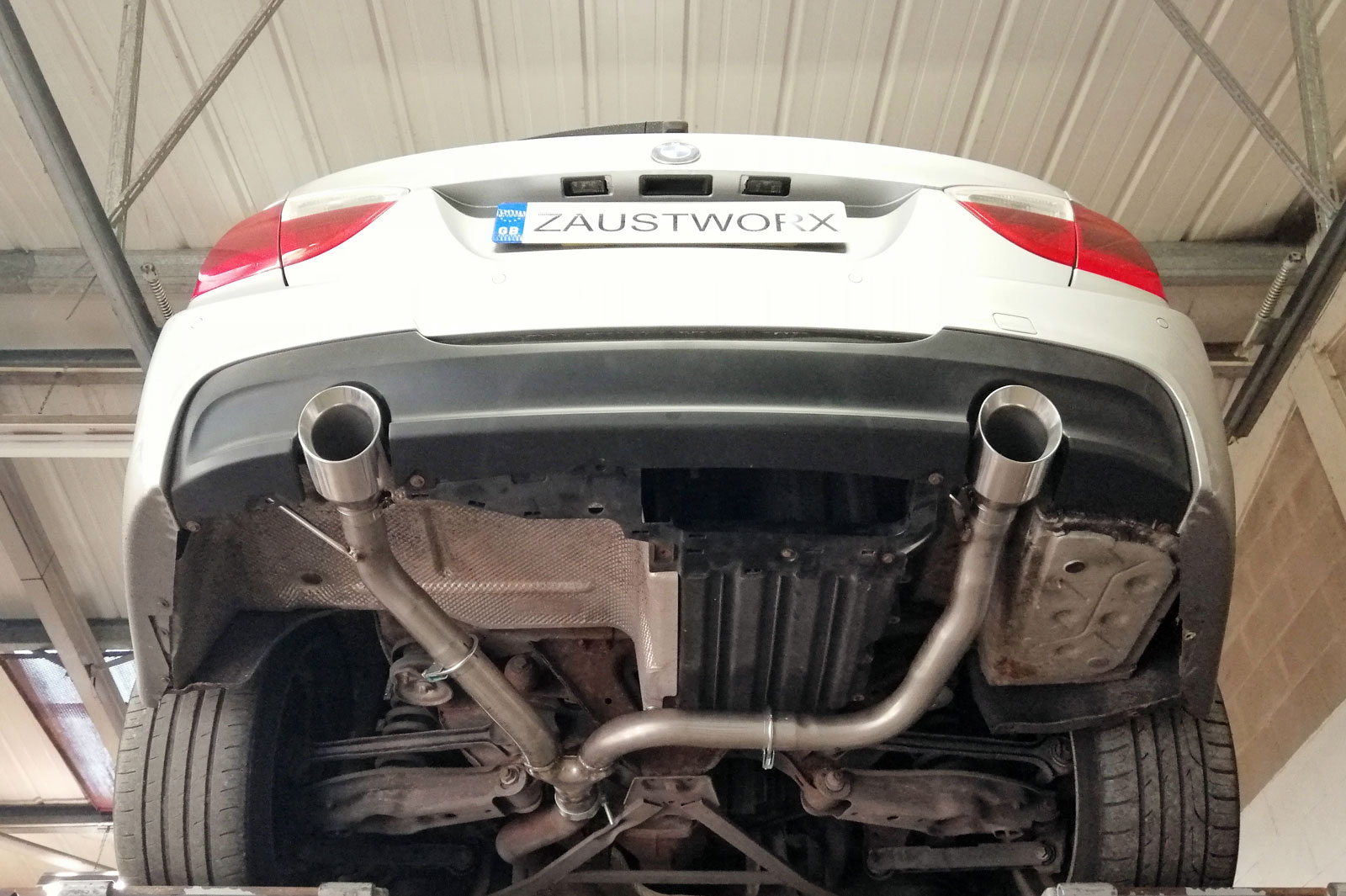 bmw 330d 335 style twin exit rear exhaust conversion