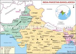 Pakistan, India and Bangladesh