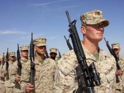United States Marines marching
