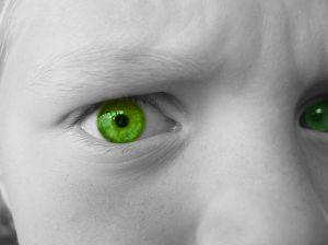 Jealousy, the green eyed monster