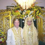 Cross cultural Muslim marriage between a Caucasian man and Asian woman
