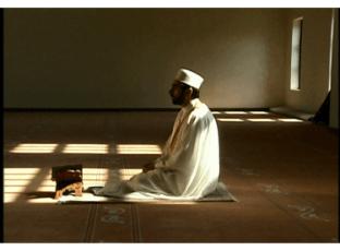 Man in prayer, man in salat, praying