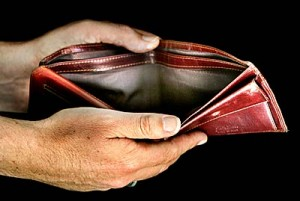 empty wallet, poor