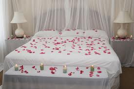 wedding night bed