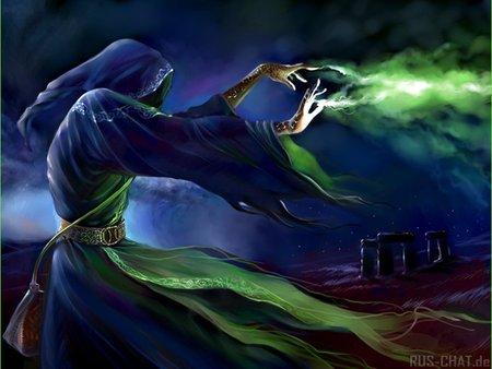 black magic sorcerer