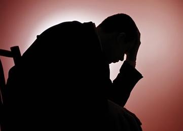 Depression, depressed man