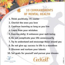 10 commandments of mental health